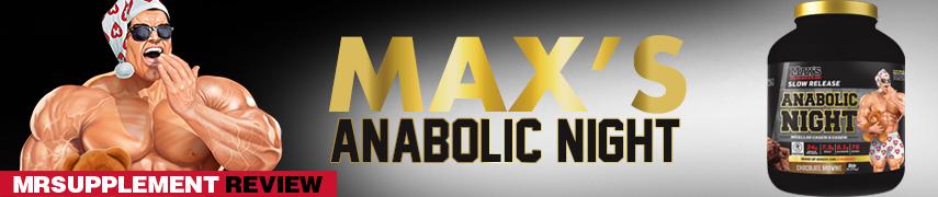 Max's Anabolic Night - MrSupplement Review