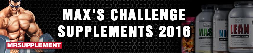 Max's Challenge Supplement Range 2016