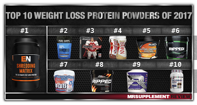 Top 10 Weight Loss Protein Powders 2017