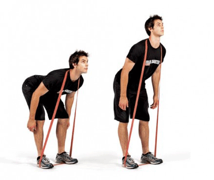 good morning exercise with resistance bands