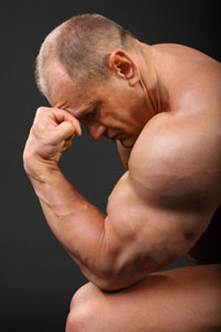 Sad Body Builder Hair Loss