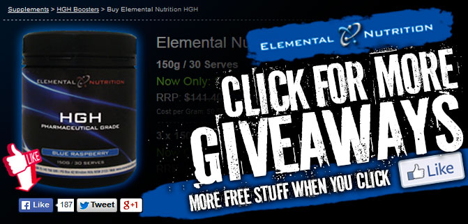 Elemental Nutrition HGH Giveaway