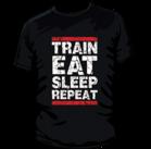 Mr Supplement Train Eat Sleep Repeat Workout Shirt