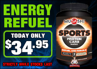 Musashi Sports Protein Carb